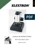 Celestron 44330, Microscopio Digital y Óptico, Manual