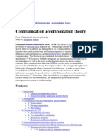 Communication Accommodation Theory Ch 3 (Www16, 2013 1)