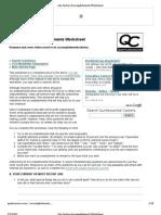 Job-Seeker Accomplishments Worksheet