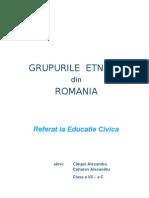 Populatiile Etnice Din Romania