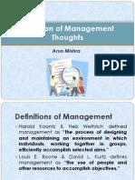 Definition & Evolution of Management