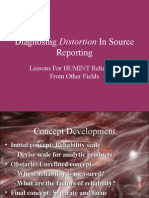 Diagnosing Distortion in Source Reporting - Powerpoint