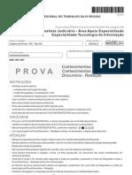 Fcc 2012 Trt 6a Regiao Pe Analista Judiciario Tecnologia Da Informacao Prova