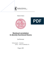 Nonlocal correlation in density functional theory