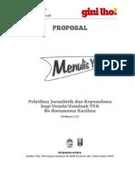 Contoh Proposal Pelatihan Jurnalistik