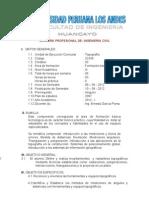 Silabo Topo Upla -2012 i