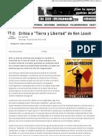 Crítica a _Tierra y Libertad_ de Ken Loach