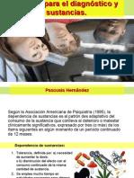 Criterios para el diagnóstico y abuso de sustancias