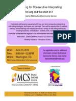 MCS Seminar