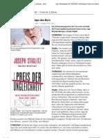 Stiglitz warnt vor Kollaps des Euro - Finanzen & Börse - derStandard.at › Wirtschaft