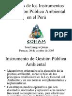 Instrumentos de Gestion Publica Ambiental