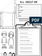 About Me (Worksheet)