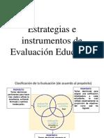 e. Estrategias e Instrumentos de Evaluación Educativa