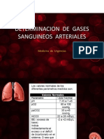 DETERMINACION  DE  GASES SANGUINEOS  ARTERIALES...pptx