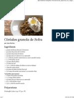 Céréales granola de Sofra - Recettes - À la di Stasio