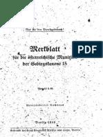 H.Dv.481-10 Merkblatt für die Österreichische Munition der Gebirgskanone 15 - 13.06.1940