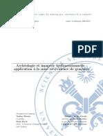 1 Rapport MFE Archeologie Et Imagerie Tridimensionnelle -Application a La Mise en Evidence de Gravures