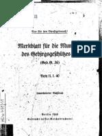 H.Dv.481-11 Merkblatt für die Munition des Gebirgsgeschützes 36 - 11.01.1940