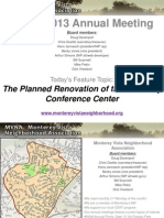 Monterey Vista Neighborhood Association 2013 annual meeting slideshow presentations.