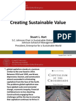 Creating Sustainable Value - L. Hart and B. Milstein 2011