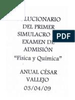 SOLUCIONARIO PRIMER EXAMEN DE FÍSICA Y  QUÍMICA-ANUAL VALLEJO
