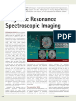 Magnetic Resonance Spectroscopic Imaging