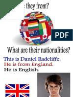 Slide Com Nacionalidades e Paises