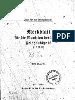 H.Dv.481-25 Merkblatt für die Munition der leichten Feldhaubitze 16 - 24.03.1941