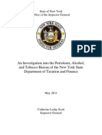 New York State Inspector General's report on the state Petroleum and Alcohol Bureau