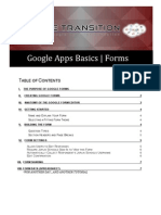 Google Apps Basics - Forms