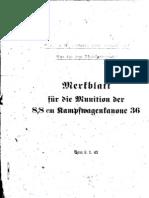 H.Dv.481-60 Merkblatt für die Munition der 8,8 cm Kampfwagenkanone 36 - 08.01.1943