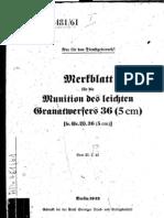 H.Dv.481-61 Merkblatt für die Munition des leichten Granatwerfers 36 5 cm - 20.02.1942