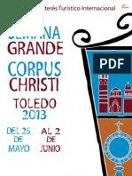 Programa Corpus Christi Toledo 2013