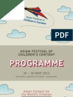 AFCC 2013 Programme Booklet