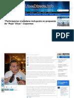 19-05-2013 'Participacion ciudadana incluyente en propuesta de Pepe Elías', Coparmex