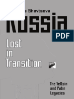 Russia—Lost Transition: The Yeltsin and Putin Legacies