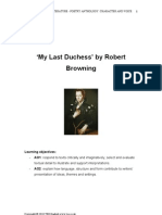 My Last Duchess Booklet