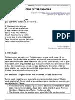 filosofia administração texto 2 COMO EVITAR FALÁCIAS