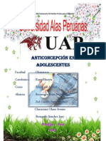 Anticoncepcion en Adolescentes