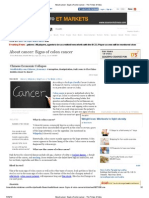 About Cancer_ Signs of Colon Cancer - The Times of India