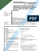 NBR  9778 Arg concreto absorção por imersão versão corrigida 2009