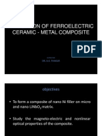 Evaluation of Ferroelectric Ceramic - Metal Composite Instructor Dr.
