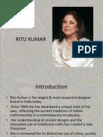Ritu Kumar fashion designer