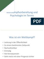 Wettkampfvorbereitung Und Psychologie Im Tennis
