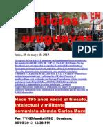 Noticias Uruguayas Lunes 20 de Mayo Del 2013