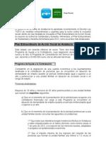 Resumen- Plan Extraordinario de Accion Social de Andalucia
