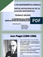 Aprendizaje de la Matemática según Piaget