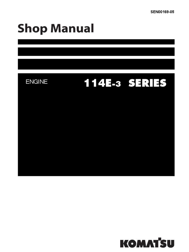 Komatsu SAA6D114E-3 Engine 114E-3 Series Shop Manual | Engineering  Tolerance | Electrical Connector