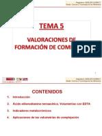 TEMA 5. Valoraciones de formación de complejos