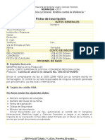 Ficha de Inscripcion III Congreso